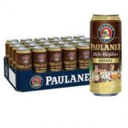 PAULANER 保拉纳 柏龙(PAULANER)黑小麦啤酒 500ml*24听 整箱装 德国进口169元