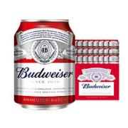 Budweiser 百威 小麦醇正 啤酒 mini罐装 255ml*24听