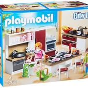 Playmobil 摩比世界 City Life 大型家庭厨房拼插玩具 9269