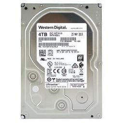 Western Digital 西部数据 机械硬盘 4TB SATA6Gb/s 7200转256M 企业级空气硬盘(HUS726T4TALE6L4)