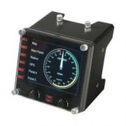 logitech 罗技 Logitech 罗技 Flight Instrument Panel专用多仪表 LCD 面板模拟控制器1199元