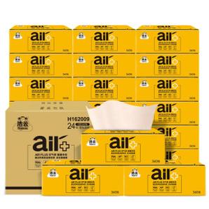 PLUS会员!Hygienix 洁云 AIR PLUS系列 抽纸 4层90抽24包(180mm*160mm)