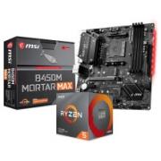AMD MSI 微星 B450M MORTAR MAX 主板 + 锐龙 R5-3600 CPU处理器 散片 板U套装