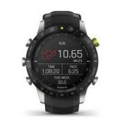 GARMIN 佳明 MARQ-Athlete-领跑者 GPS智能手表 46mm 黑色钛合金表圈 黑色硅胶表带(GPS、心率、气压)