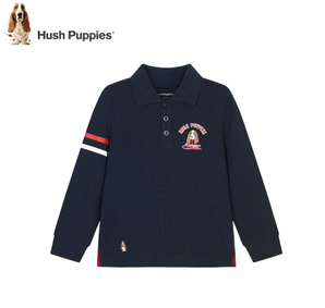 Hush Puppies 暇步士 男童长袖POLO衫