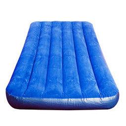 INTEX 68950充气床条纹植绒单人气垫床家用便携午休床加厚户外帐篷垫折叠床