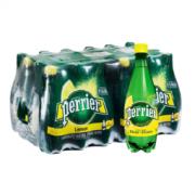 perrier 巴黎水 Perrier 巴黎水 含气柠檬味矿泉水 500毫升/瓶 24瓶/箱 塑料瓶装