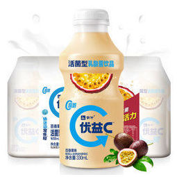 MENGNIU 蒙牛 优益C 活菌型乳酸菌饮品 百香果味330ml*4 冷藏饮料 冷饮
