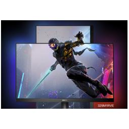 PHILIPS 飞利浦 31.5英寸显示器 4K 144Hz IPS屏 HDR400 Type-C HDMI2.1 旋转升降 流光溢彩 电竞显示屏 329M1RVE