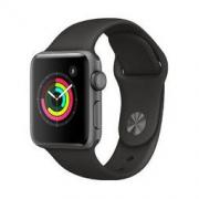Apple 苹果 Watch Series 3智能手表(GPS款 42毫米 深空灰色铝金属表壳 黑色运动型表带 MTF32CH/A)