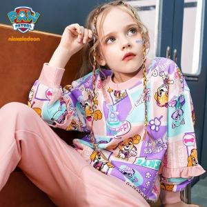 Paw Patrol 汪汪队立大功 2021新款女童时尚满印卫衣