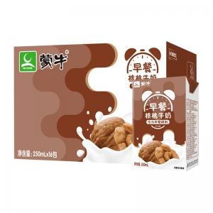 88VIP:蒙牛 早餐奶 核桃味 利乐包250ml*16盒*2件+众德 蜂蜜柚子茶 500g