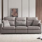 KUKa 顾家家居 2055B 现代简约科技布沙发 三人位
