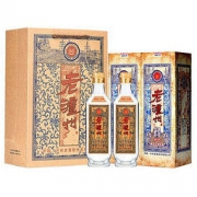PLUS会员:LUZHOULAOJIAO 泸州老窖 老泸州(珍藏版)52度 浓香型白酒 500ml*2瓶装