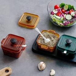 Citylong 禧天龙 珐琅锅形调料盒 方形 3件套