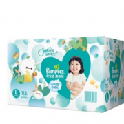 88VIP!Pampers 帮宝适 清新帮 婴儿纸尿裤 L 112片¥121.55 4.9折 比上一次爆料降低 ¥127.45