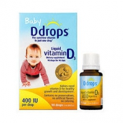 Ddrops 婴儿维生素D3滴剂 400IU 90滴/瓶 美版