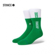STANCE 双罗口 拼接撞色 中筒袜 A556C21SCA-PGW 绿色2 S码