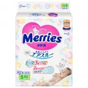 Merries 妙而舒 婴儿纸尿裤 S82片*5件312元(合62.4元/件)