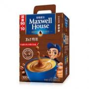 Maxwell House 麦斯威尔 特浓速溶咖啡优惠超值装90+10条(1.3KG/盒)32.12元(需买3件,共192.73元包邮,买一赠一 ,双重优惠)