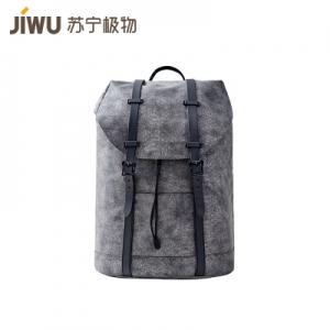 JIWU 苏宁极物 迷途探索 创意帆布双肩包 深灰色