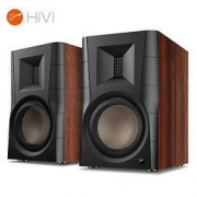 HiVi 惠威 D300有源HIFI音响 多媒体无线蓝牙5.0书架箱 电脑电视家用桌面音箱 等磁场带式高音喇叭