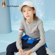 Hush Puppies 暇步士 2021秋季新款 男童翻领运动长袖POLO衫