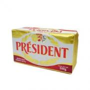PRÉSIDENT 总统 President)发酵型动脂黄油 淡味 500g 早餐 面包 烘焙原料