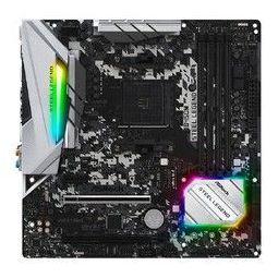 ASRock 华擎 B450M Steel Legend MATX主板(AMD AM4、B450)