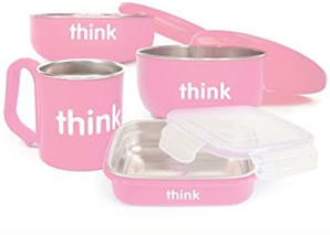 Thinkbaby 婴儿餐具套装 不含BPA 粉色
