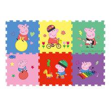 PLUS会员:Peppa Pig 小猪佩奇 玩具拼图泡沫地垫 羊角球6片 XPE58*58*1.5