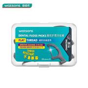 Watsons 屈臣氏 竹炭扁线护理牙线棒 50支¥4.13 2.0折
