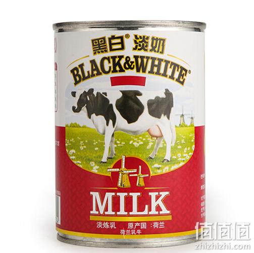 荷兰进口 黑白淡奶 咖啡奶茶冲调伴侣 全脂淡炼乳400g