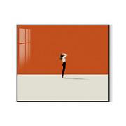 Room127 免打孔轻奢电表箱装饰画配电箱遮挡壁画 40x30cm 油画布 深木框