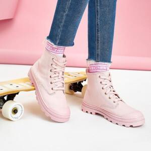 PLUS会员:SKECHERS 斯凯奇 167017 女款高帮帆布鞋