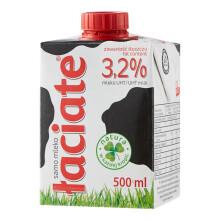 PLUS会员、限地区:Laciate 高温灭菌全脂牛奶 0.5L*8盒*3件