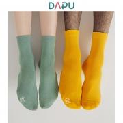 DAPU 大朴 纯色棉质舒适袜子 5双装