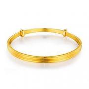 LUKFOOKJEWELLERY六福珠宝 精工款黄金手镯 F63TBGB0008 26.41克11875元包邮(需用券)