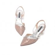 ST&SAT星期六 时尚尖头优雅细高跟鞋 粉色 1双装