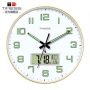 TIMESS 夜光中国码电波表 日期温度显示 自动对时分秒不差