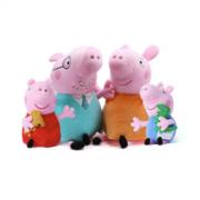 Peppa Pig 小猪佩奇 一家4口毛绒礼盒装 小号