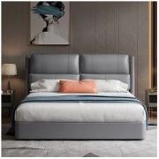 CHEERS 芝华仕 芝華仕(CHEERS)芝华仕床真皮床现代简约双人床1.8米卧室床储物床软包床皮床C066