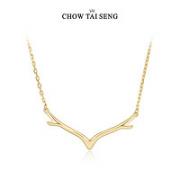 CHOW TAI SENG 周大生 女士金色麋鹿项链 S0PC0033
