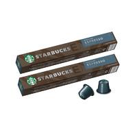 88VIP!STARBUCKS 星巴克 意式浓缩烘焙胶囊咖啡 10粒装*2盒