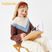 balabala 巴拉巴拉 女童套头毛衫¥39.90 1.7折