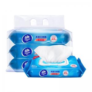 88VIP:Vinda 维达 洁肤湿巾 80抽3包*4件
