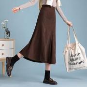 La Chapelle 拉夏贝尔 23049-04HD 女式纯色半身裙65元+运费(需用券)