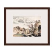 Artron 雅昌 关山月《祁连山麓》56×67cm 新中式古典风景国画水墨画 装饰画挂画