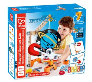 PLUS会员!Hape 小学生stem玩具  科学物理实验磁力套E3033