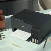 EPSON 爱普生 墨仓式 L3153 无线连接 打印复印扫描一体机
